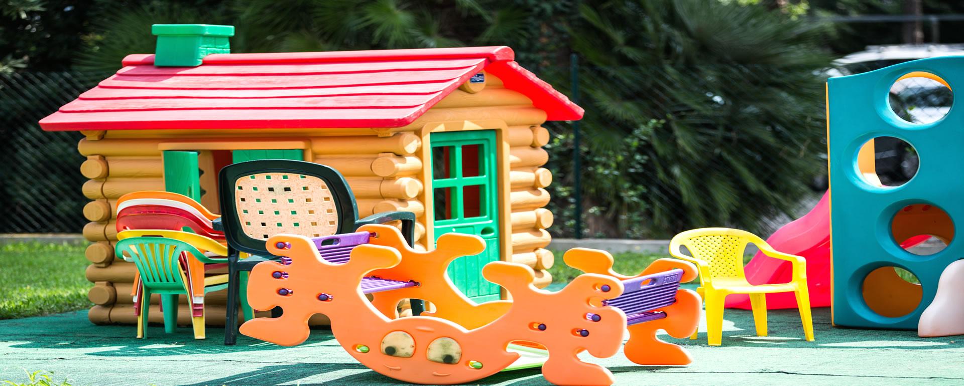 Hotel per bambini con area giochi